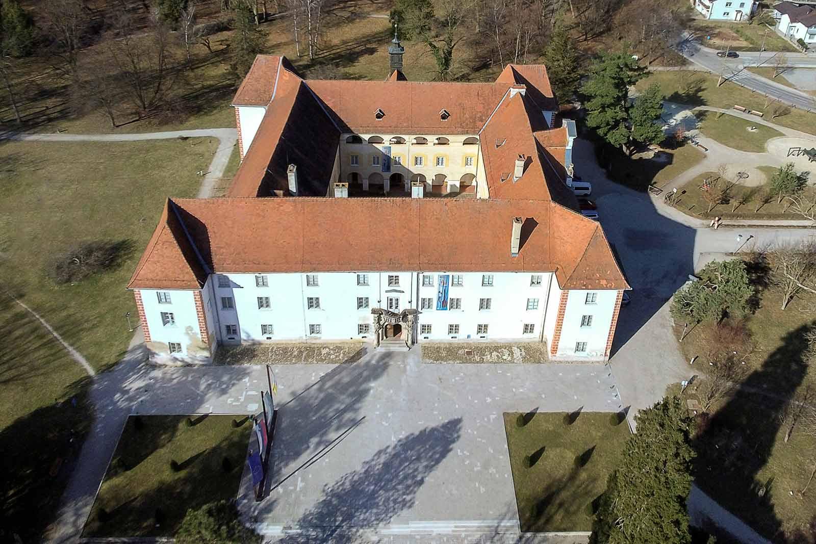 Grad Murska Sobota z vzhodne strani, zračni posnetek